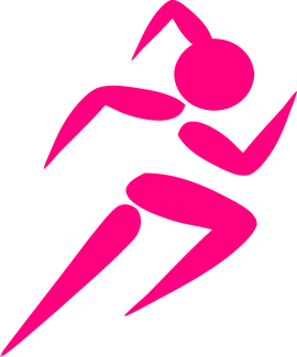 Pink Girl Running Vector Clipart, by tessjohnson, https://www.goodfreephotos.com/